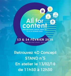 SAVE THE DATE - All for content - 13 & 14 février 2018